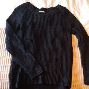 Black Table Knit Sweater
